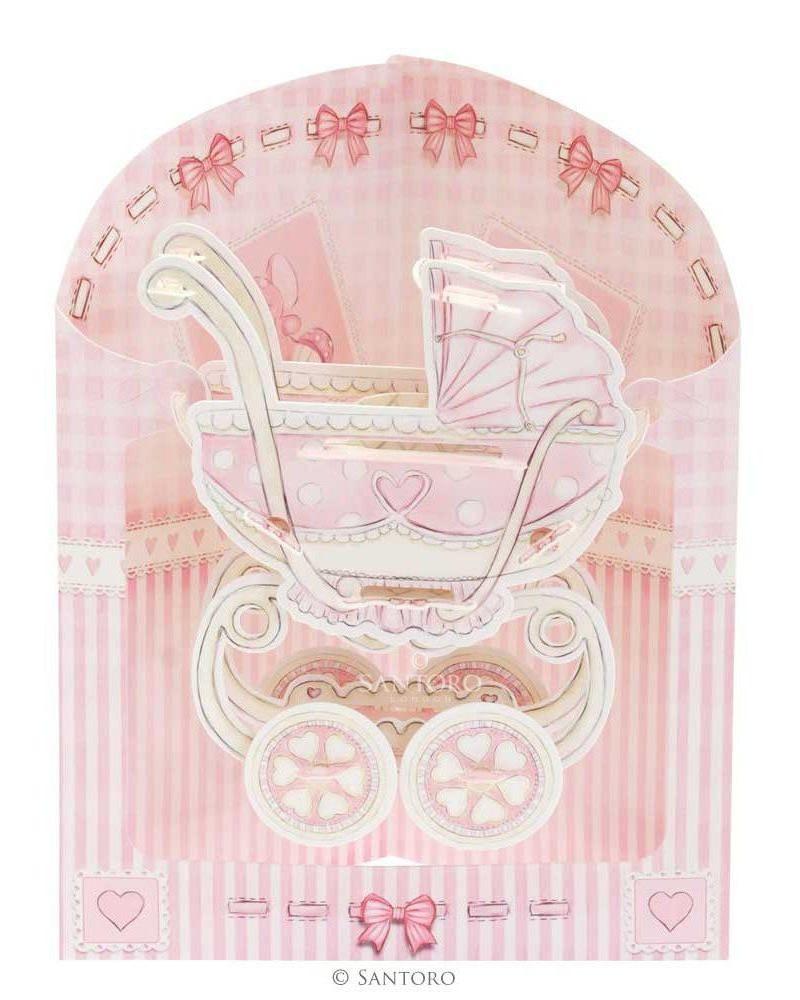 Swing Card Baby Girl Pram