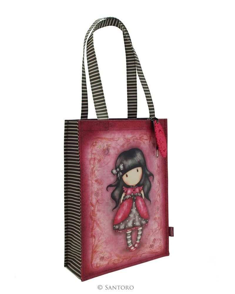 Gorjuss – Coated Shopper Bag – Ladybird