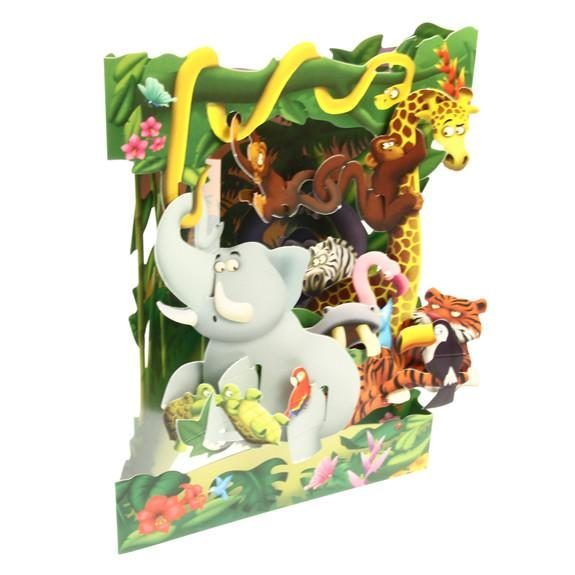 Swing Card Jungle Animals