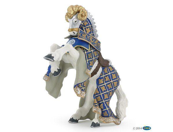 Papo Ram Knight`s Horse Blue