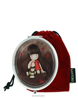 Gorjuss Compact Mirror with Keepsake Bag – The Collector