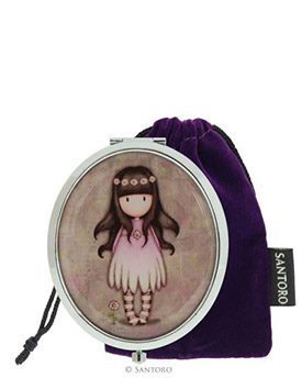 Gorjuss Compact Mirror with Keepsake Bag – Oops-a-daisy