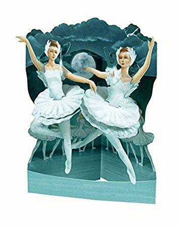 Swing Card Ballet Swan Lake
