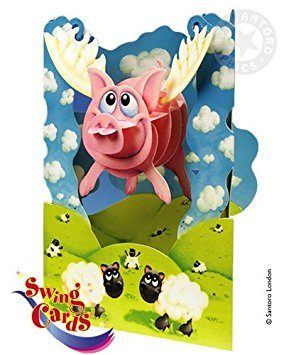 Swing Card Pigs Might Fly
