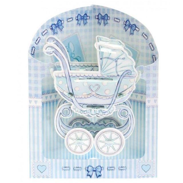 Swing Card Baby Boy Pram