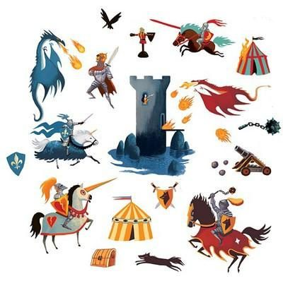 Knights and Dragons – Wall Stickers