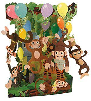 Swing Card Monkey Party