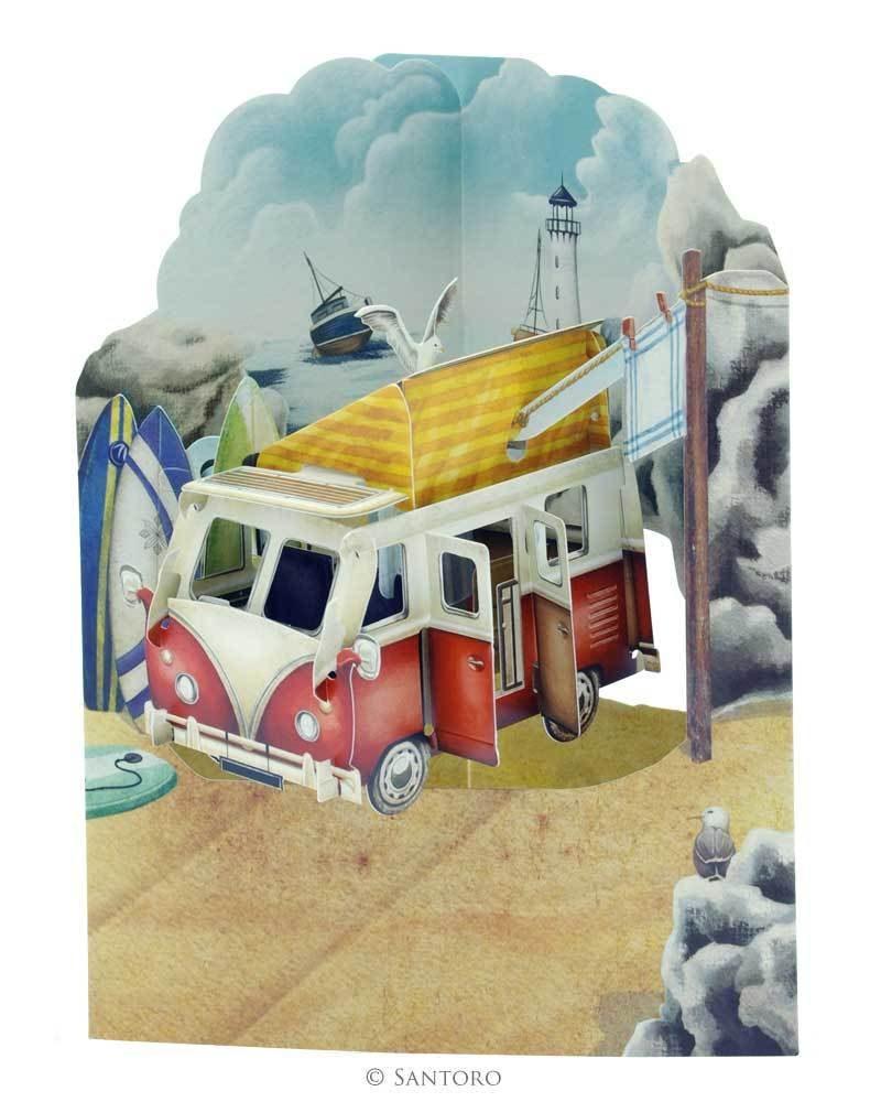 Swing Card Camping Van