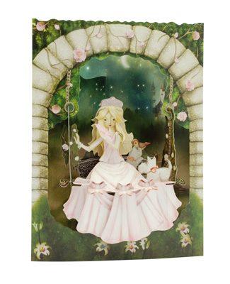 Swing Card Princess On A Swing
