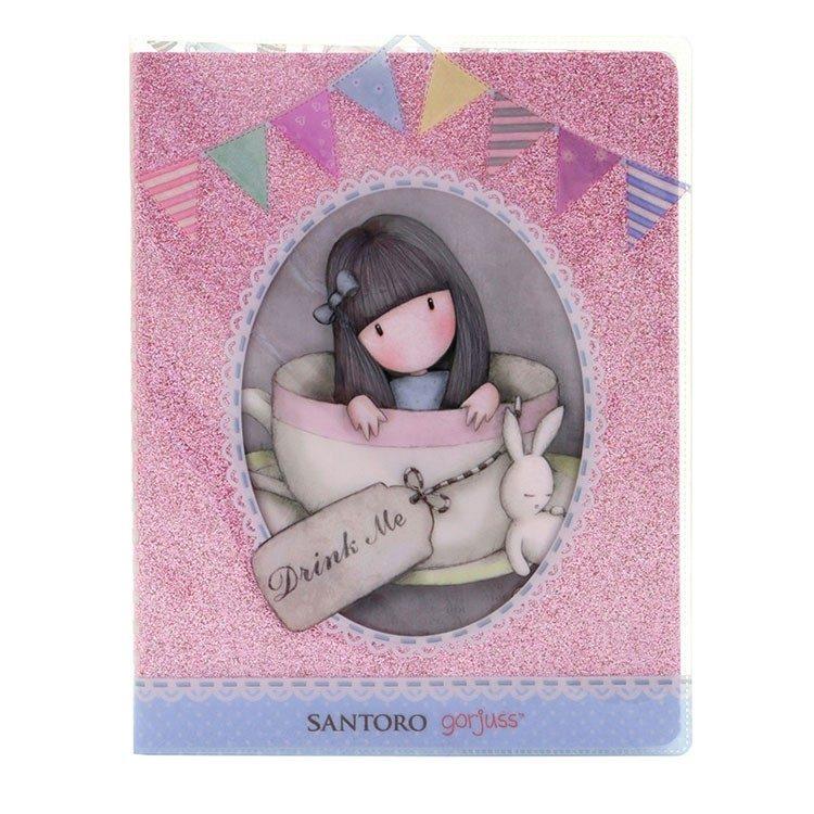 Gorjuss Glitter Notebook With PVC cover- Sweet Tea