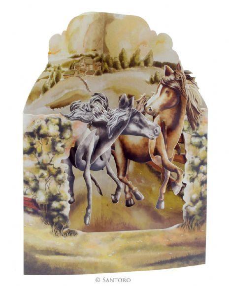 Swing Card Horses In The Fields