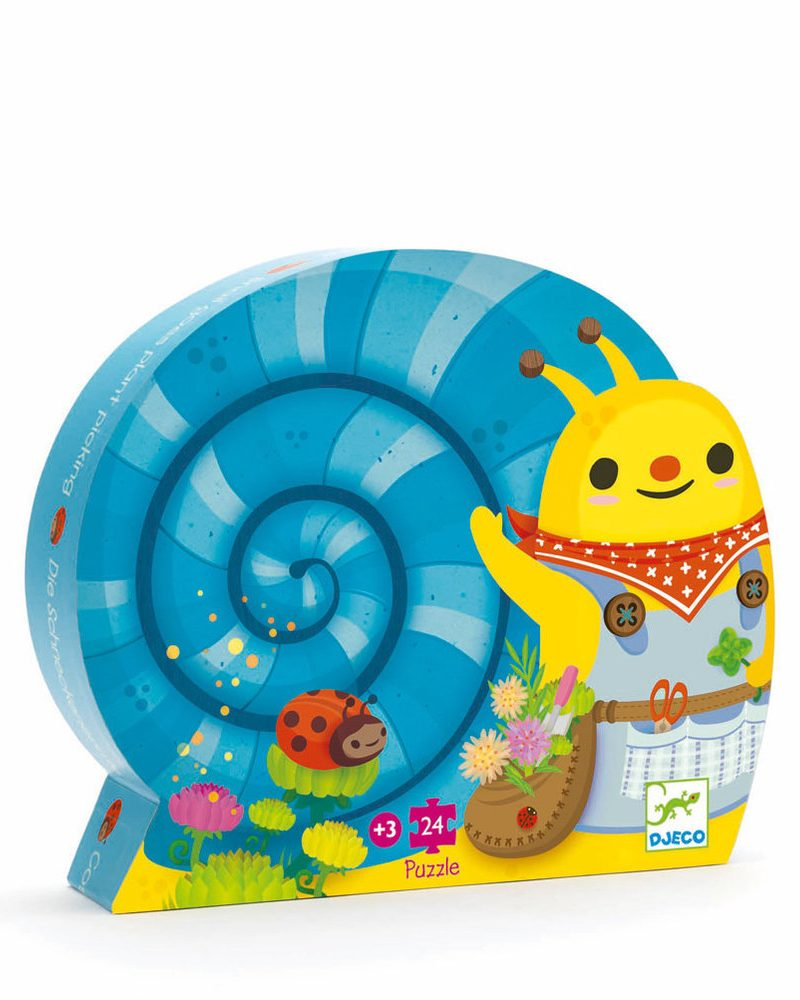 Silhouette Puzzle – Snail Goes Plant Picking