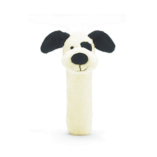 Bashful Black and Cream Puppy Squeaker Toy