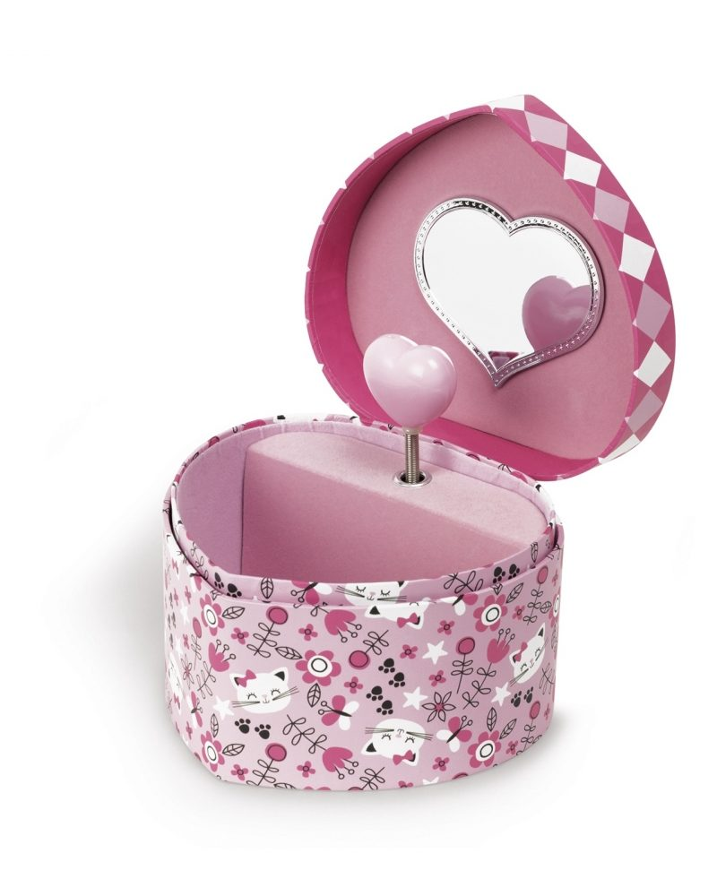 Musical Jewellery Box – Cat and Heart