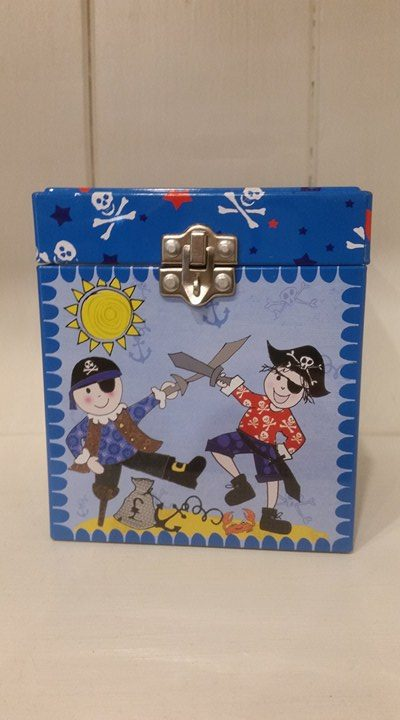Lockable Money Tin – Pirates