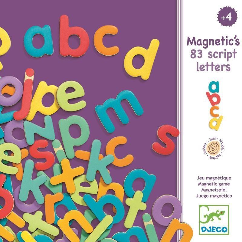 Wooden Magnetic Script Letters
